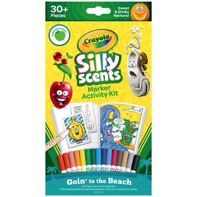 30+ PCS Crayola Silly Scents Marker Activity Kit Sweet & Stinky Scented Markers