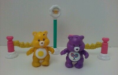 Care Bears Care-a-lot Cloud Boat Playset Replacment Pieces with 2 Figures