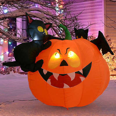 Inflatable Pumpkin Arch Halloween Decoration Yard Lighted Airblown