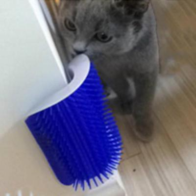 For Cats Brush Pet Products Corner Cat Massage Comb Brush With Catnip Wholesale