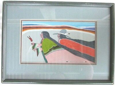 Original Painting by Navajo Artist Justin Tso - Native American Art - Signed