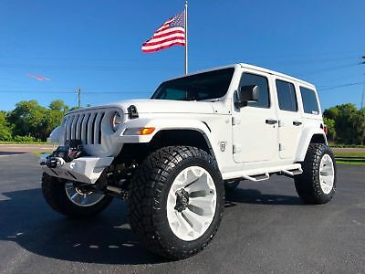 """Jeep All-New Wrangler Unlimited JL WHITE-OUT CUSTOM LIFTED LEATHER HARDTOP JL*WHITE-OUT*CUSTOM*LIFTED*LEATHER*HARDTOP*FUEL*EVO*OCD*N-FAB*37"""" NITTOs*FLA"""
