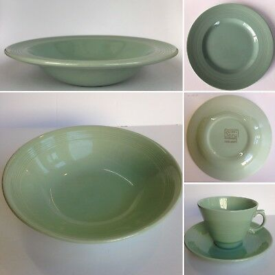 Vintage WOODS WARE Green Beryl Pattern Tableware Cups Saucers Plates etc Choose