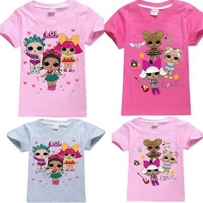 lol surprise dolls Game Girls T-shirts Tops Party Costume tshirts T shirts UK