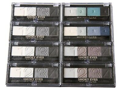 8 x Maybelline Eyestudio Smoky Eyes & Glam Eyeshadow | RRP £48 | 4 Shades