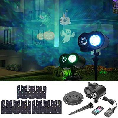 LLQ Water Wave Projector Light Remote Control LED Projector Lamp With 12 Slides
