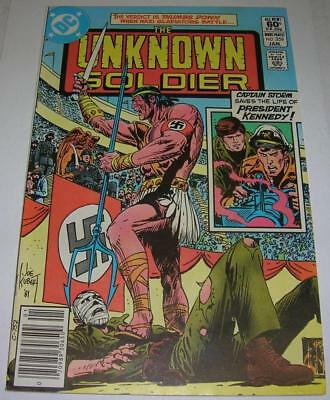 UNKNOWN SOLDIER #259 (DC Comics 1982) CAPT STORM saves PRESIDENT KENNEDY (FN+)