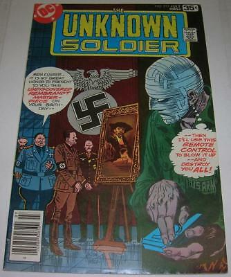 UNKNOWN SOLDIER #217 (DC Comics 1978) HITLER story (FN) Joe Kubert cover