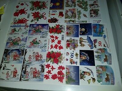 Sale 10X 3D Sheets For Making Cards Scissors Need From Le Suh Christmas (A4035)