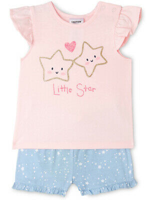 NEW Sprout Girls Essential Pyjama Set Lt Pink