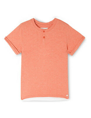 NEW Milkshake Layered Hem Henley Orange