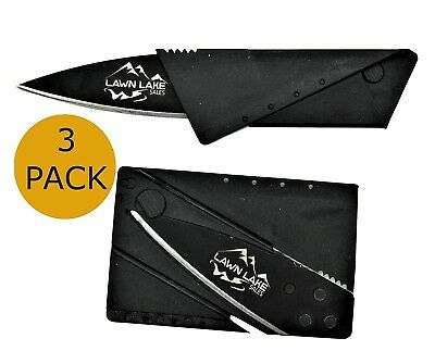 3 pack Credit Card Thin Knives Cardsharp Wallet Folding Pocket Micro Knife new