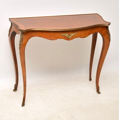 Antique French Inlaid Parquetry Console Table