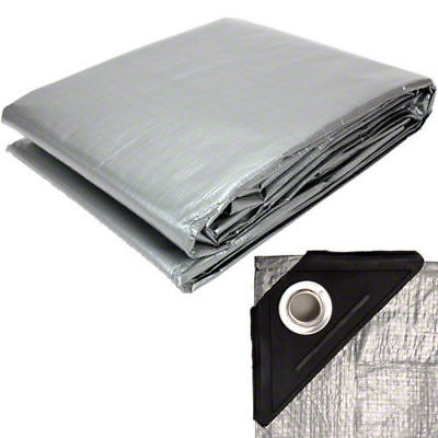 Sigman Heavy Duty Silver Tarps Canopy Roof Tarp New Multi Sizes - Free Shipping