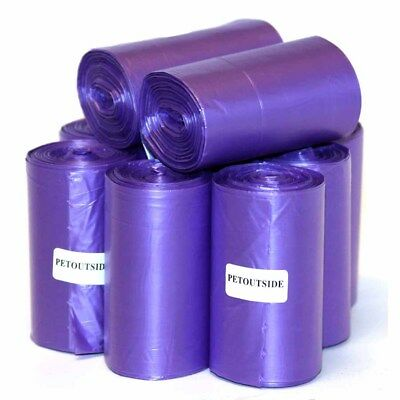 1035 DOG WASTE POOP BAGS 45 REFILL NOCORE BIODEGRADABLE ROLLS by PetOutSide Prpl