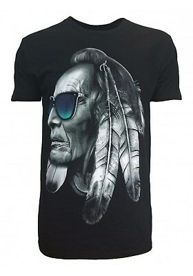 Konflic Native American Indian Chief T Shirt
