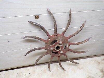 Old IH Rotary Hoe Spiked Wheel for Garden Flower Yard Decor Lot B