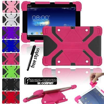 "Shockproof Silicone Stand Cover Case For Various Asus 10.1"" ZenPad Tablet + Pen"