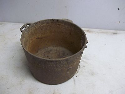 Old Cast Iron Pot or Kettlre for Garden Planter