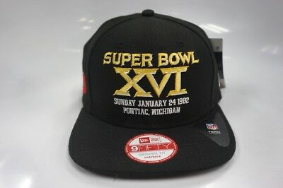 c575db655 San Francisco 49ers New Era 9Fifty Original Fit Snapback Hat Super Bowl XVI