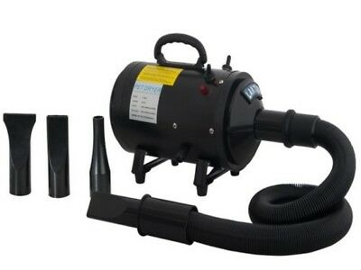 Professional Dogs Cats Pet Groomer Heater Portable Air Blower 2 Speed Adjustable