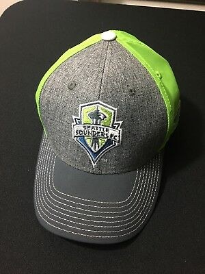 official photos d5140 26ba7 Seattle Sounders FC Adidas Cap Hat Official On Field Soccer MLS Fitted L XL
