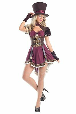 Steampunk Mad Hatter size L/XL 3-Piece Womens Dress Costume Outfit Dress-up CHOP