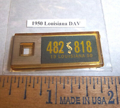 1950 Louisiana #482 818 DAV Mini License Plate keychain Disabled American Vet