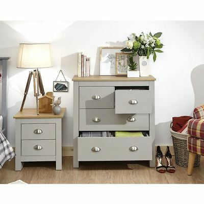 Lancaster 2+2 Drawer Chest 4 Drawers Dressing Table Cabinet Storage