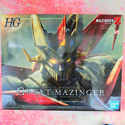 BANDAI HG Great Mazinger (Mazinger Z INFINITY Ver.) 1/144 Color Coded Model,Tra#