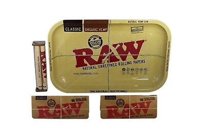 Raw Rolling Tray Bundle with Raw Roller and 2x Raw King Size Supreme Papers