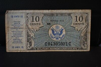 1948 MILITARY PAY CERTIFICATE  $.10 Series 472 Circulated Banknote USED NR