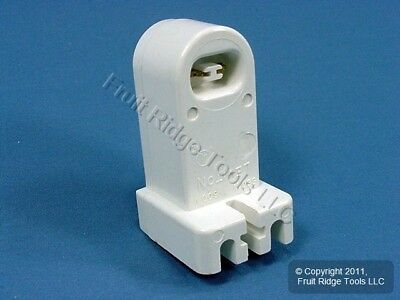 Leviton White HO T8 T12 Fluorescent Lamp Holder Light Socket Fixed End 465 HORIZ