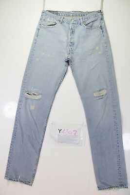 Levis 501 Customized Repair cod. Y1807 tg.47 W33 L36 jeans gebraucht hohe Taille