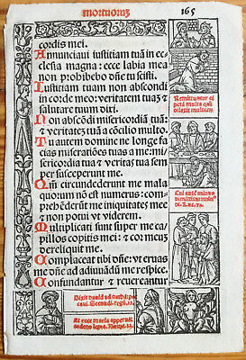 Decorative Leaf Book of Hours Woodcut Border Venice Stagnini (165) - 1518