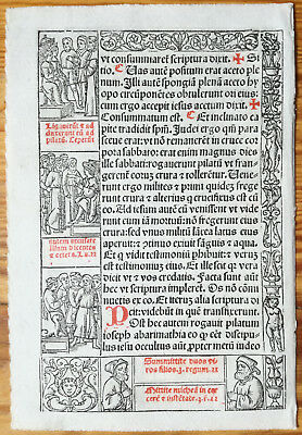 Decorative Leaf Book of Hours Woodcut Border Venice Stagnini (22) - 1518