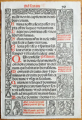 Decorative Leaf Book of Hours Woodcut Border Venice Stagnini (70) - 1518