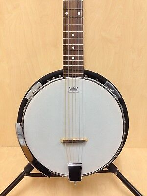 Danville BJ-006 6-String Guitar Banjo w/Mahogany Resonator+Free Bag-Blemished