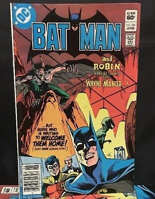 Batman #348 Dc Comic Book Bronze Age 1982  VF/NM  Sharp Copy!