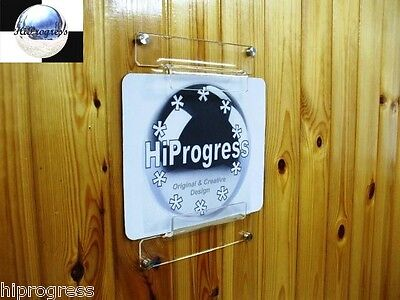 Universal Acrylic Wall Hanging Holder Display Mount for Sign Signboard Tag Name