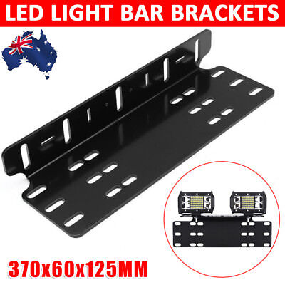 Number Plate Mount Bracket Holder Led Car Driving Light Bar Spot Licence Free