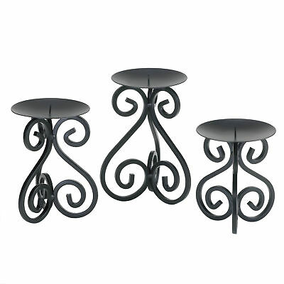 Gallery of Light - Scrollwork Candle Stand Trio