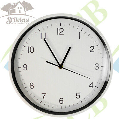 Wall Mounted 30cm Analogue Clock For Home or Office Energy Efficient Movement