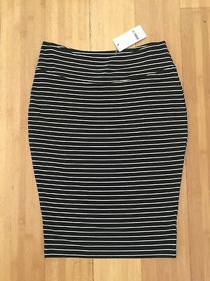 Ripe Maternity Skirt Size M NWT New Navy And White Striped