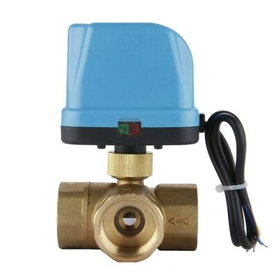 DN25 (G1.0 Inch) 3 Way 220V Zone Valve Electric Ball Three Motor Reversing wE1W3