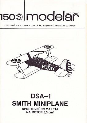 Quality Plan, Bauplan RC Scale Biplane 'DSA-1 Smith Miniplane'