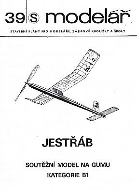 "Bauplan, Plan Free Flight Cat B1 (Coupe d'Hiver) model ""Jestrab (Faucon)"""