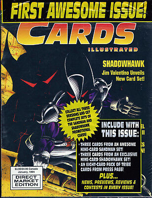 Cards Illustrated Magazine #1 SHADOWHAWK W/ Trading Cards & More ~ Sealed!