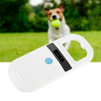 RFID Animal Chip Dog Reader Microchip Handheld Pet Scanner 134.2/125kHz White DH