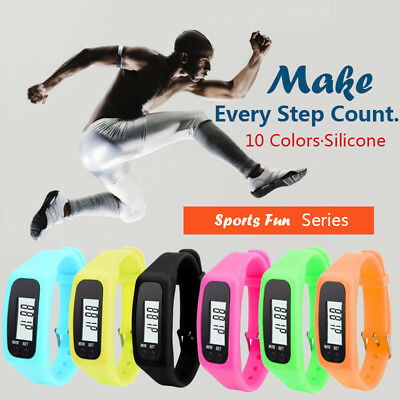 LCD Pedometer Steps Counter Pedometer Watch Sports Wristband for Jogging Waiking